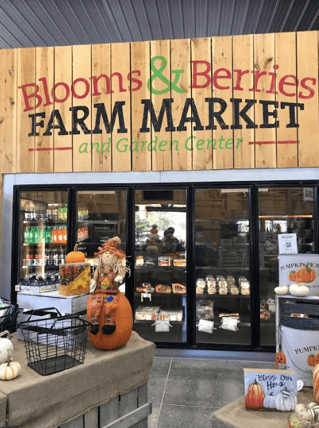 Great shopping inside Bloom and Berries Market