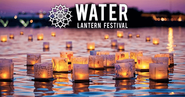 2020 Water Lantern Festival promotional image with logo