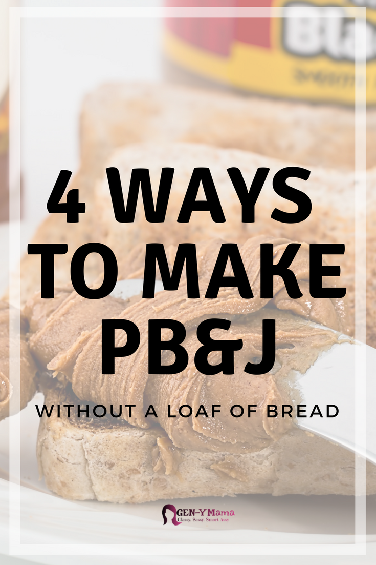 4 Ways to Make PB&J Without a Loaf of Bread