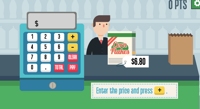 Free Online Math Games_Grocery Cashier