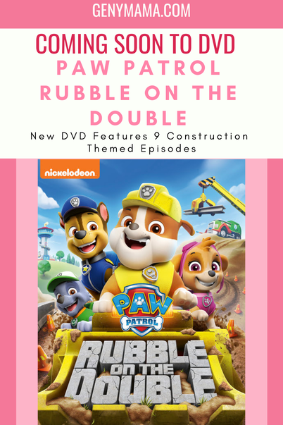 PAW Patrol Rubble on the Double DVD features 9 construction themed episodes
