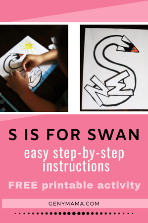 S is for Swan craft celebrates The Swan Princess a Royal Wedding available on digital Aug 4