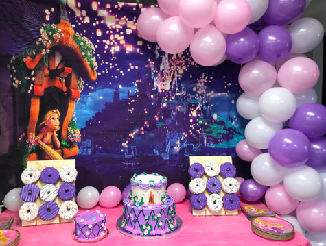 Tangled First Birthday Sweets Table