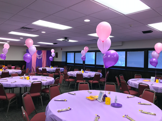 Tangled First Birthday Party the room