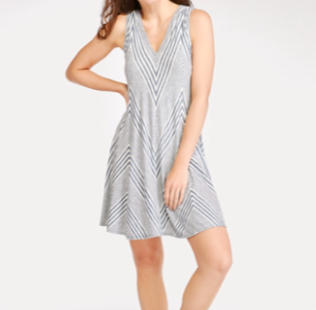 Wantable Review Stripe V Neck Dress