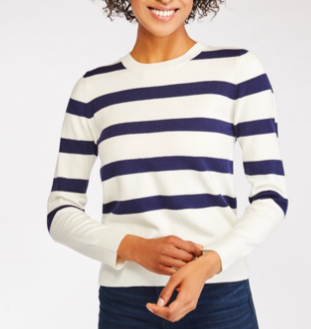 Wantable Review Navy Stripe Sweater